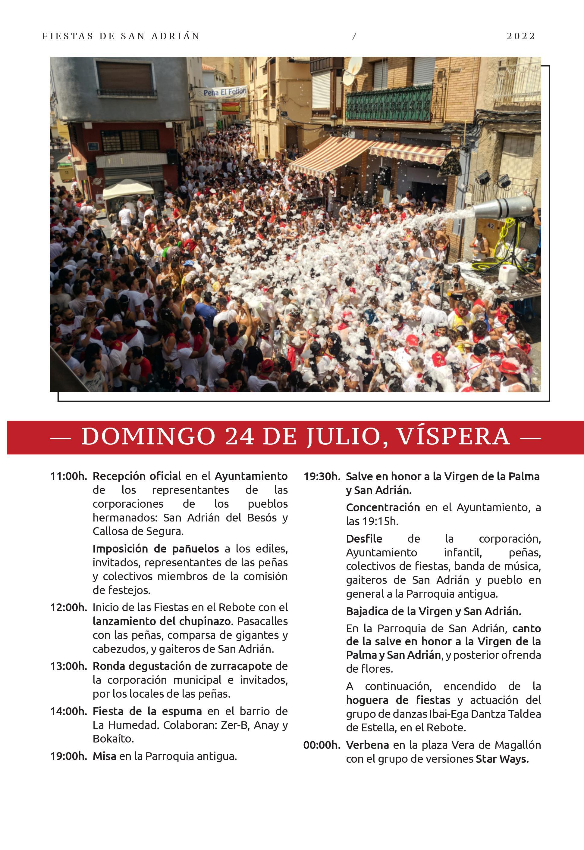 Programa de las Fiestas de San Adrián 2015