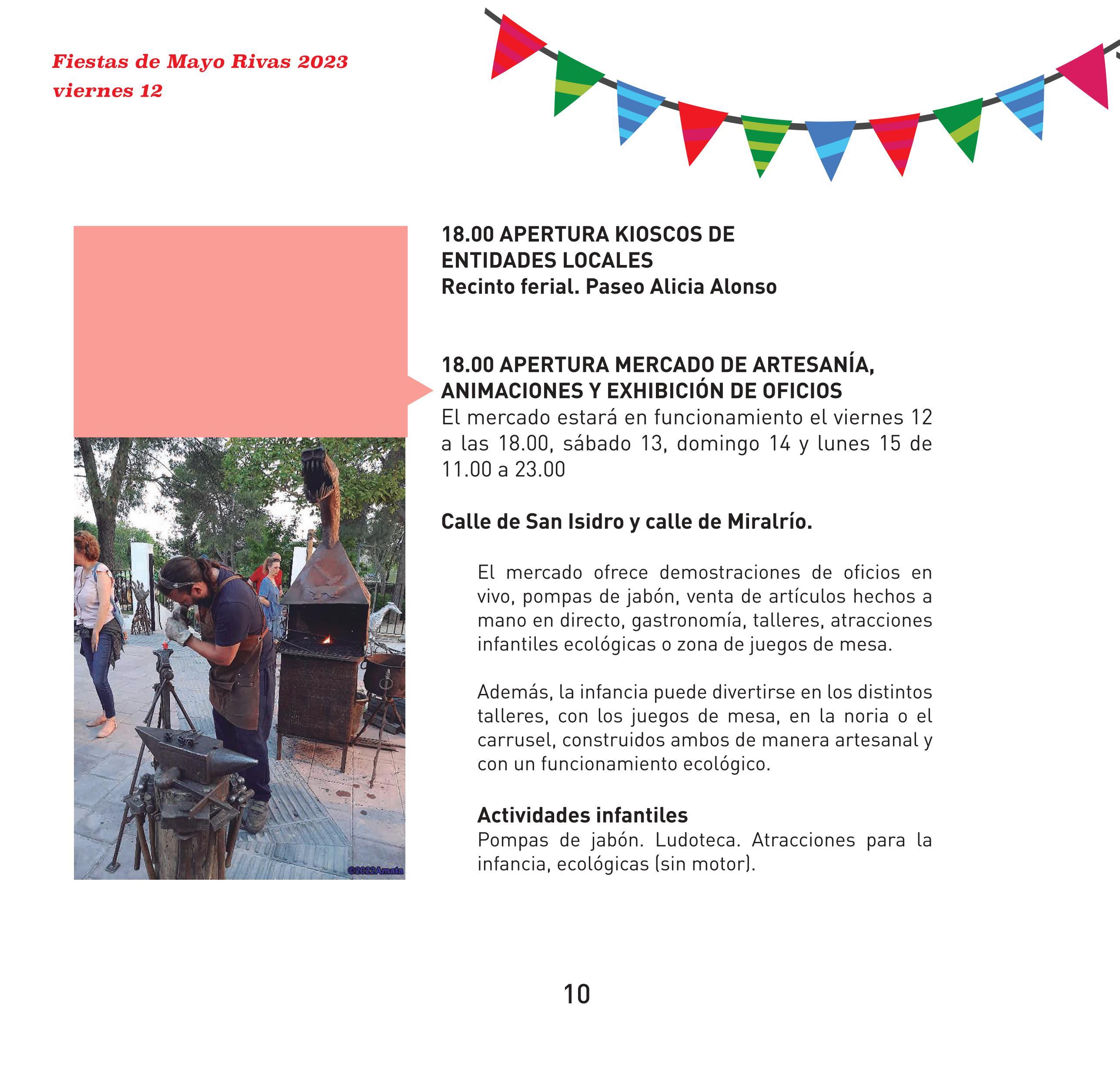 Programa de las Fiestas de Mayo en Rivas Vaciamadrid