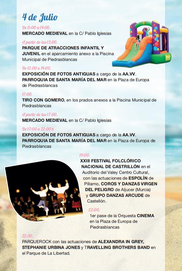 Programa de las Fiestas de Piedras Blancas y Día de Castrillón 2015