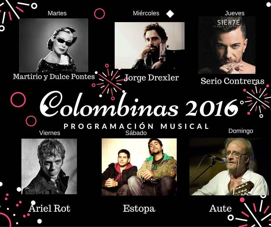 Conciertos Fiestas Colombinas 2016