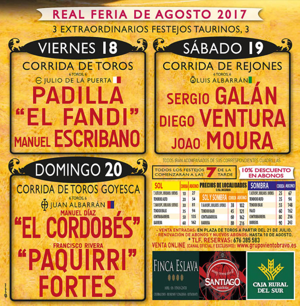 Antequera Real Feria de Agosto Conciertos
