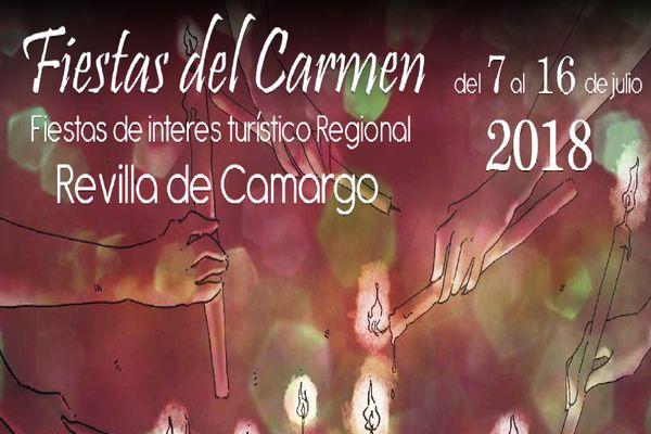 Cartel y programa de las Fiestas del Carmen en Revilla de Camargo