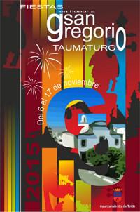 Cartel y programa de las Fiestas de San Gregorio en Telde