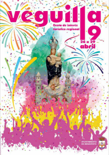 Cartel y programa de las Fiestas de la Veguilla en Benavente