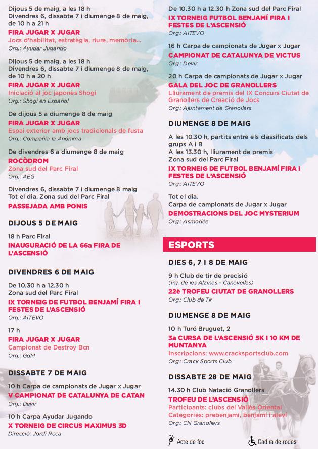 Fira i Festes de l'Ascensió en Granollers