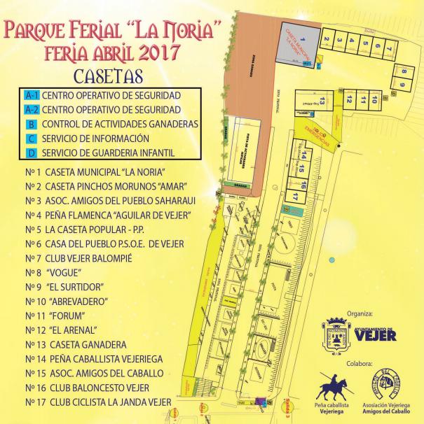 Plano de la Feria de Primavera de Vejer de la Frontera