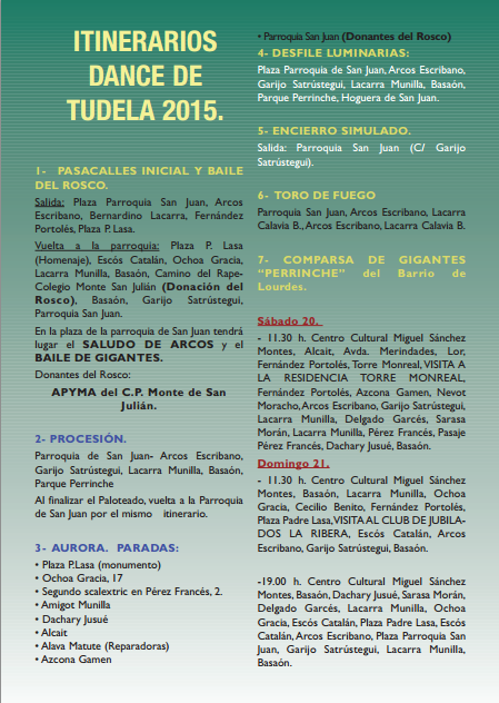 Dance de Tudela 2015 Paloteado
