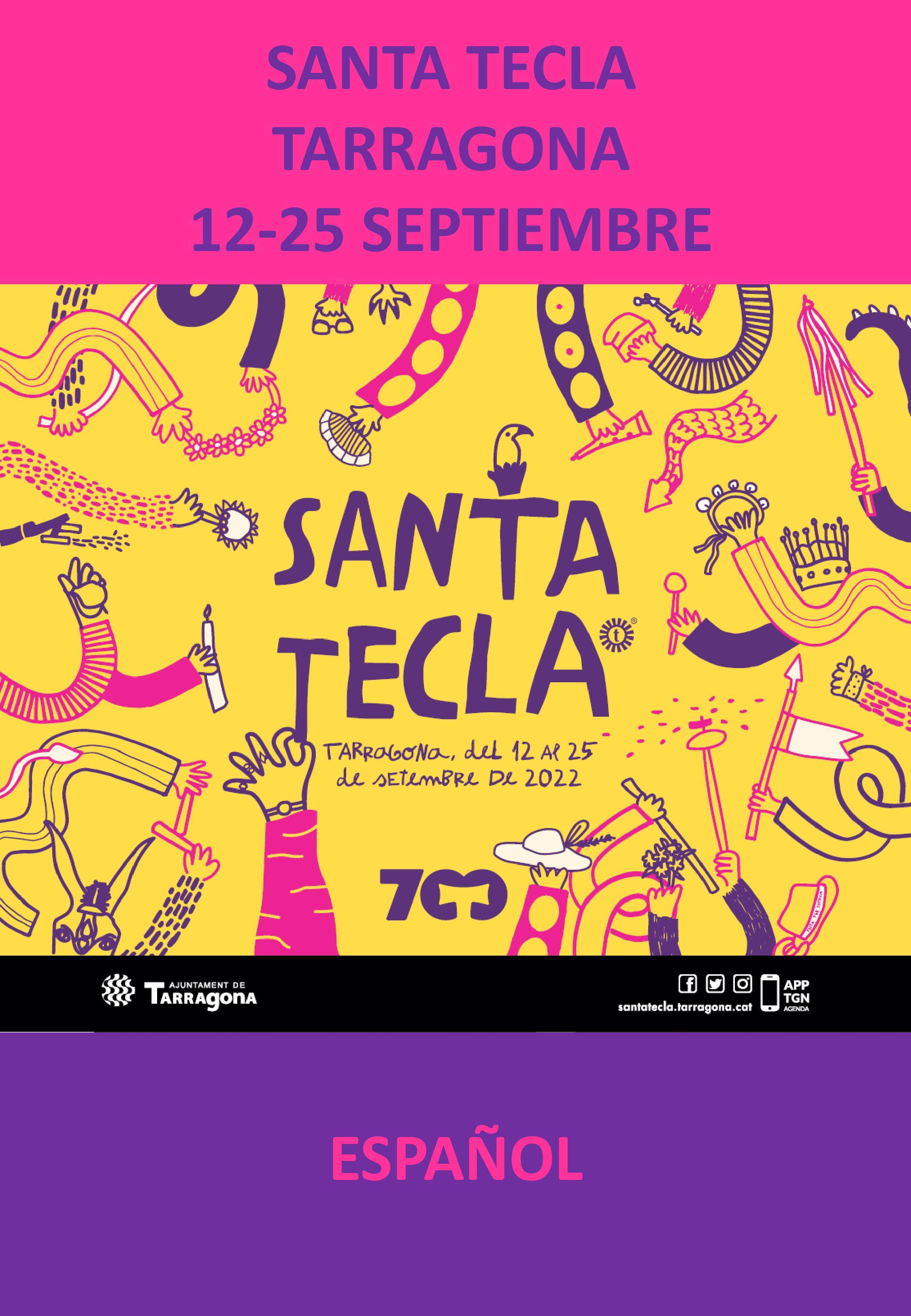 Programa de las Fiestas de Santa Tecla en Tarragona