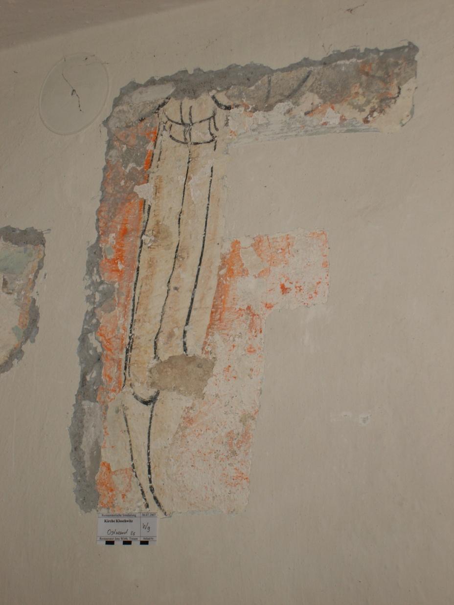 historisches Gemälde - Teil eines Engelflügels