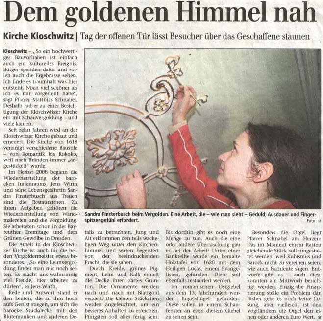 Vogtland Anzeiger April 2009