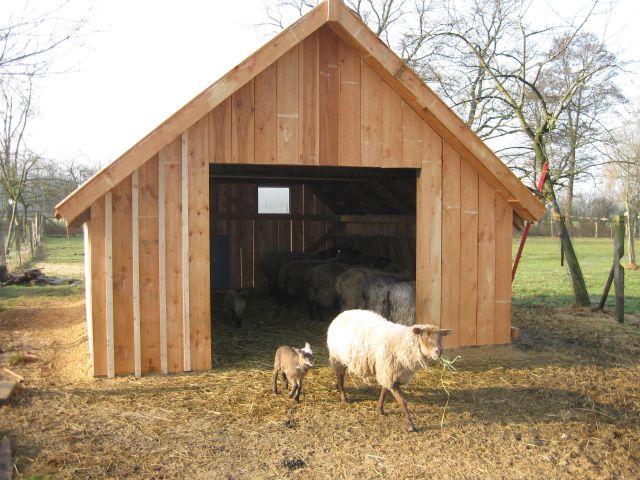 2013 und 2014 wurden 2 neue Schafställe errichtet