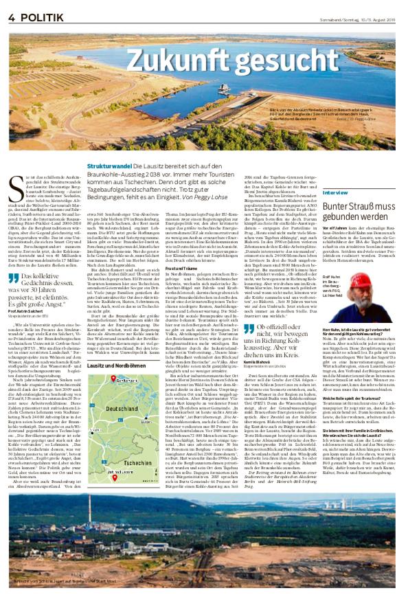 Märkische Oderzeitung, Wochenende, 10./11. August, Seite 4, Politik