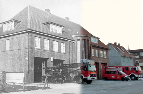 Unser Feuerwehrgerätehaus gestern und heute