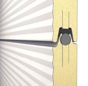 Sektionsverbindung Iso-Sektionaltor wind- und wasserdicht