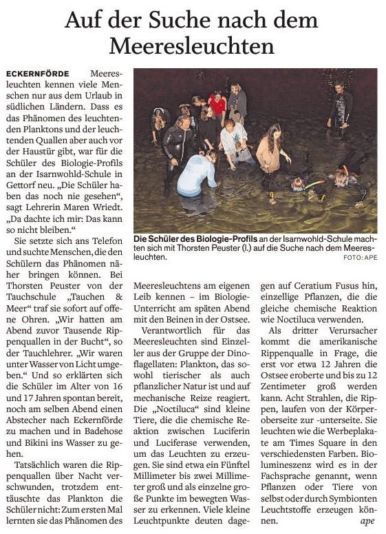 Quelle: Eckernförder Zeitung I Arne Peters I 05.10.2018