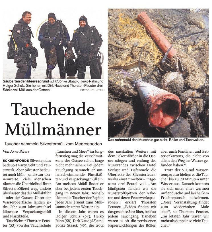 Quelle: Eckernförder Zeitung I Arne Peters I 08.01.2019