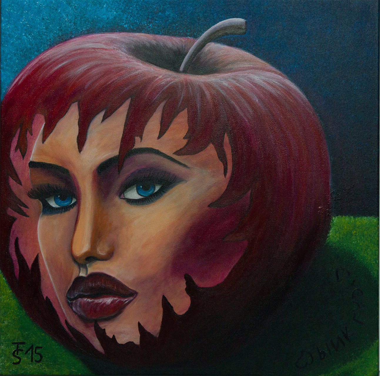 Pink Lady   _  (Acryl auf Leinwand, 60 x 60 cm)