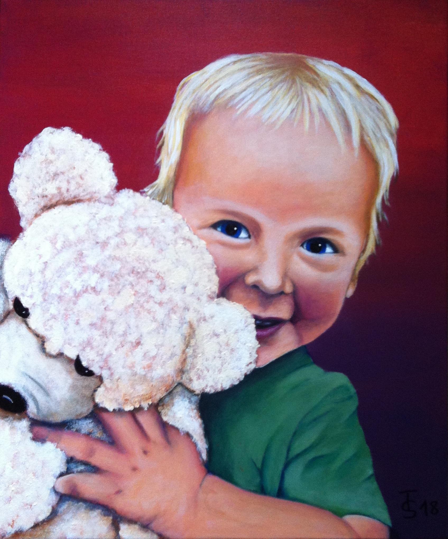 Leo  _   (Acryl auf Leinwand, 50 x 60 cm)