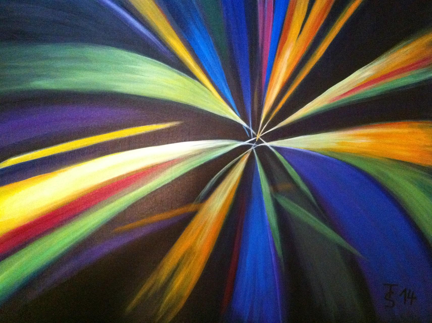 Geburt des Lichts  _   (Acryl auf Leinwand, 100 x 70 cm)