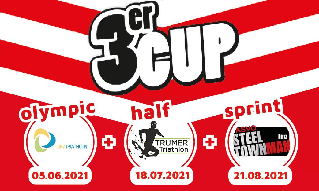 3er Cup -  Linz Triathlon, Trumer Triathlon und Steeltownman
