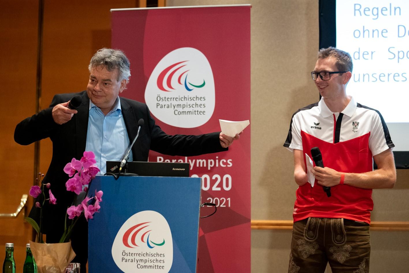 Medieninfo - Günther Matzinger - Matzinger mit ÖPC-Team für Tokio-Spiele verabschiedet