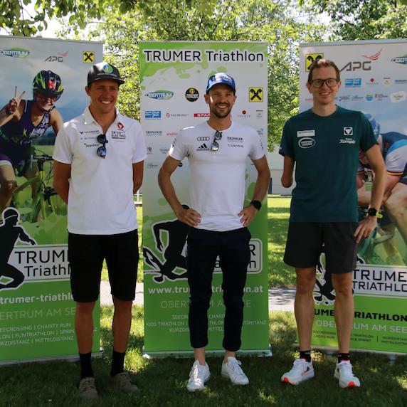 Pressekonferenz am 28.06.2021 zum Trumer Triathlon