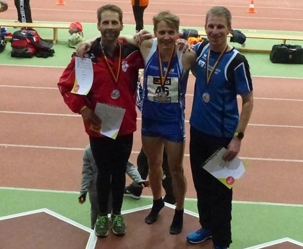 Senioren Hallen DM Erfurt 800m Bronzemedaille