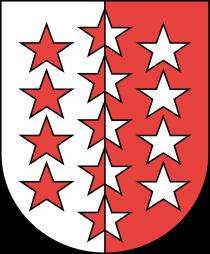Wappen des Kantons Wallis in der Schweiz