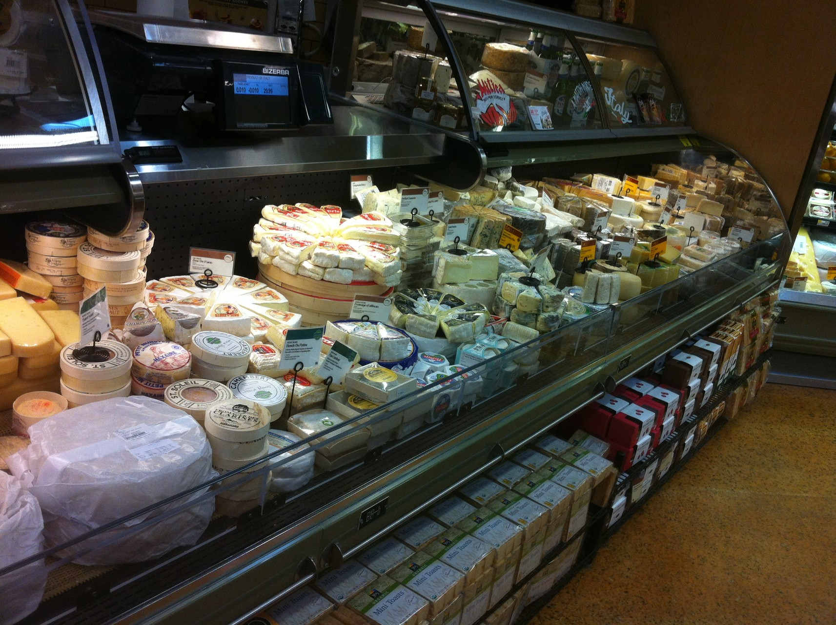le rayon fromage du Whole Foods Market