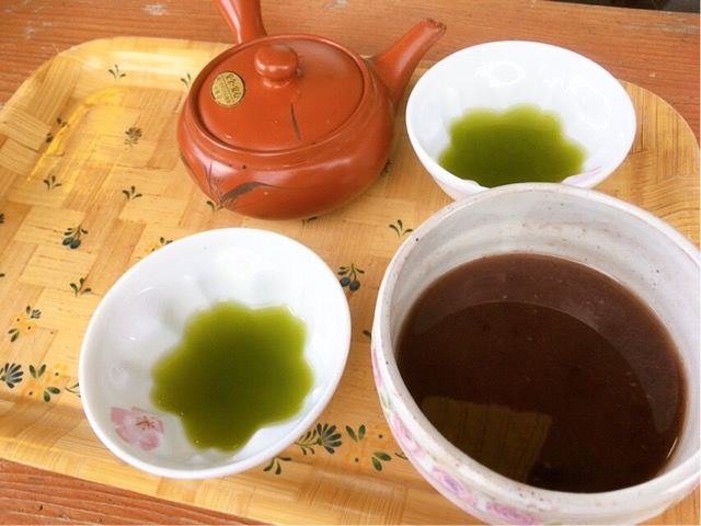 お汁粉 緑茶