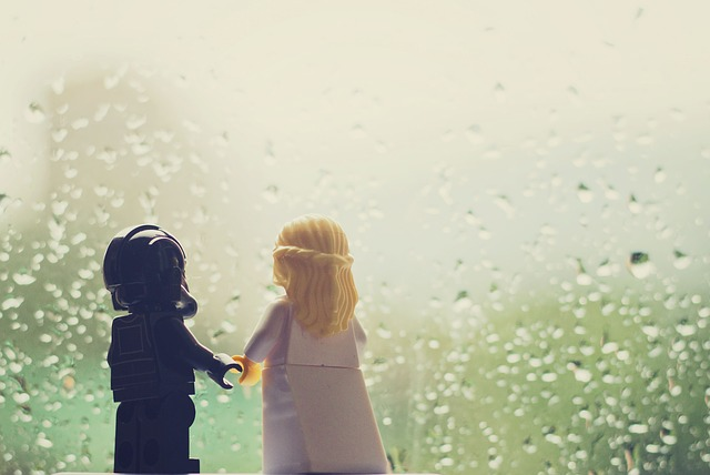 雨のデート