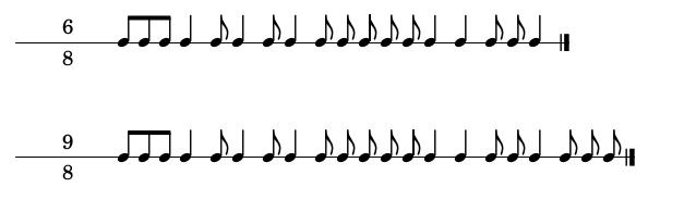 Foto 4: Situar las barras de compás según la indicación de compás.