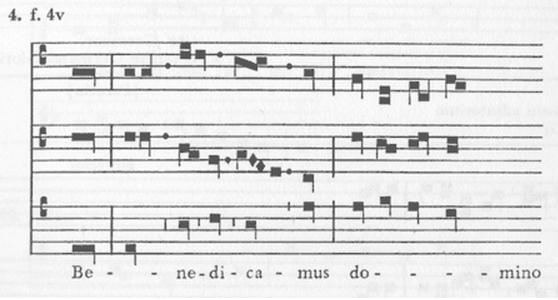 Foto 2. Notación franconiana.