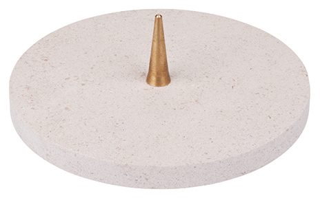 KL 3   Kalkstein-Leuchter 12 cm blanco   12,60 €