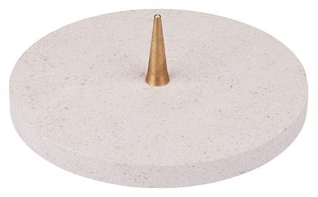 KL 2   Kalkstein-Leuchter 12 cm blanco   12,95 €