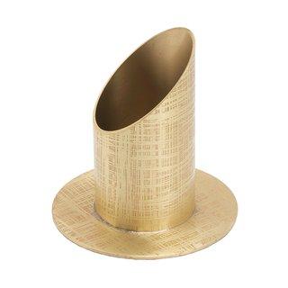KL 6 Kerzenständer Röhre gold 4cm  17,95 €