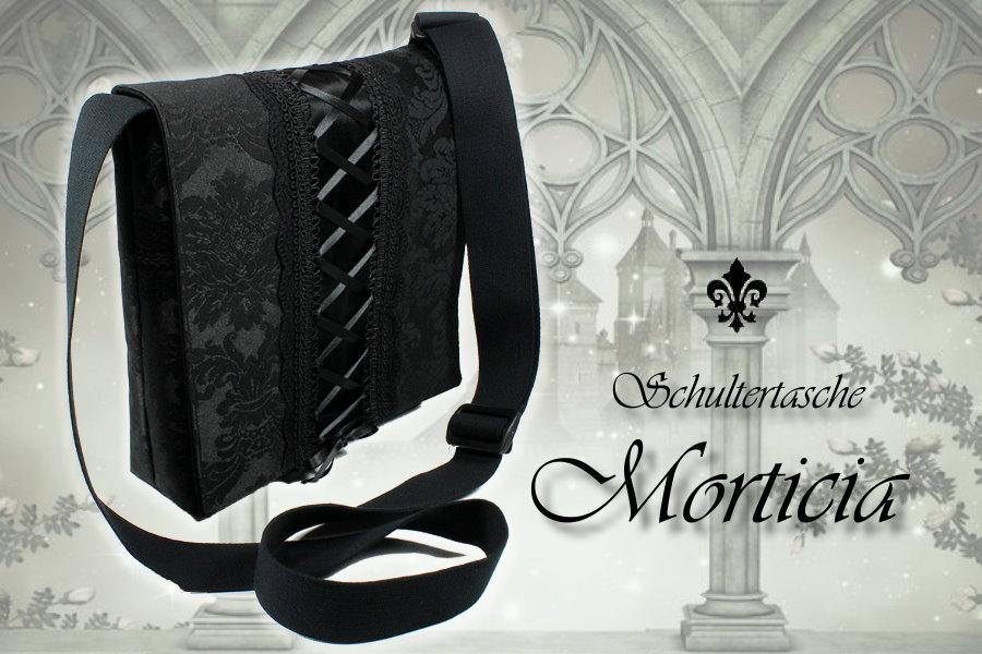 Schultertasche Morticia im Gothic-Stil