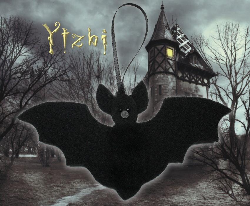 Fledermaus Ytzbi - süsser Fledermaus-Anhänger aus schwarzem Filz