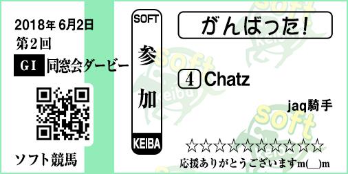<同窓会ダービー>Chatzさん