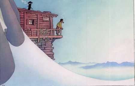 A chaque fois que la neige revient sur la Meije, nous aimons afficher cette aquarelle de Samivel. Anne-Soisig, qui nous l'a envoyé, a cru y voir un air de ressemblance avec un certain Promontoire....