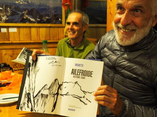 Ici début août lors d'une soirée au Promontoire avec J.M Rochette. Samedi prochain nous l'accueillons à la Gélinotte de Freydières (voir ci-dessus)