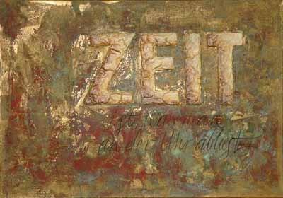 Schriftkunst Zeit Multi Media Vintage Einstein