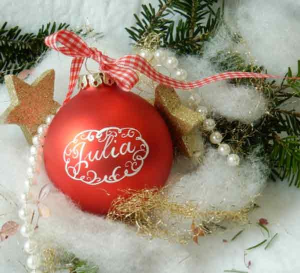 Dehner Christbaumkugeln.Personalisiertes Geschenk Die Weihnachtskugel Mit Namen