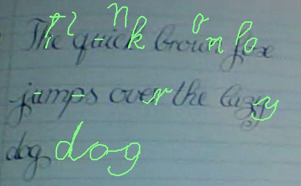 Live Anmerkungen im Onlinekurs Kalligraphie