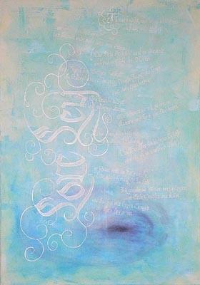 Kallgrafie Wasser Heine Loreley