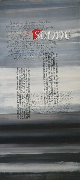 Kalligrafie Mixed Media gestural writing Textura