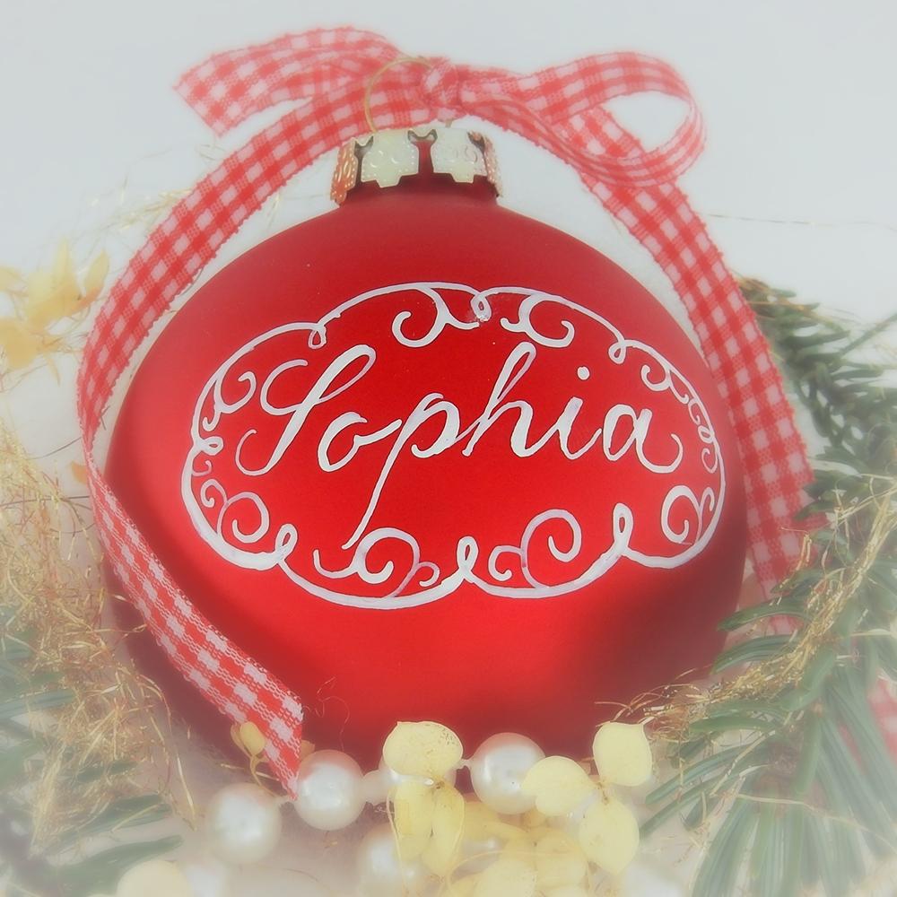 pers nliche geschenke weihnachtskugeln mit namen kalligraphie lettering handlettering. Black Bedroom Furniture Sets. Home Design Ideas