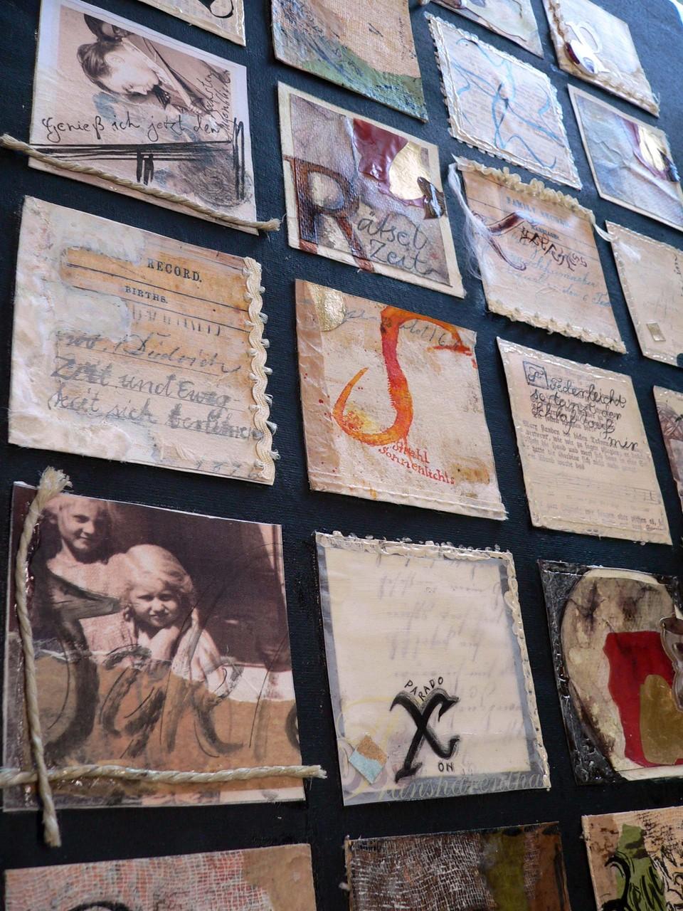 Kalligraphie und Collage
