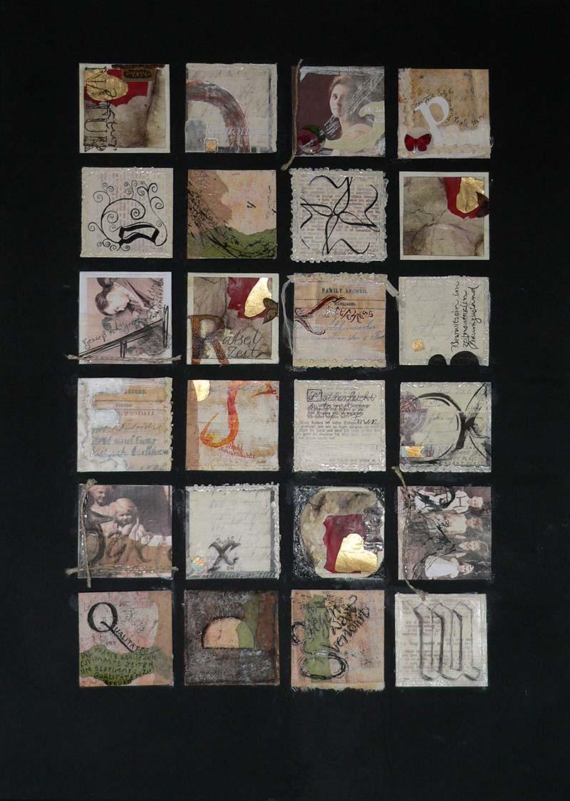 Calligraphie und Collage