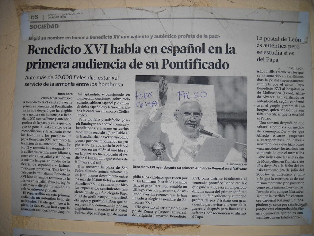 EL VATICANO DUDA DE LA AUTENTICIDAD DE LA POSTAL